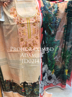 Cotton Embroidered Lawn ID02143 (Pakistani)