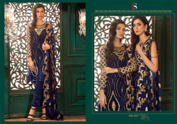 Gulbano Georgette Embroidered ID02114 (Indian)