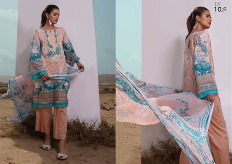 Firdous Cotton Embroidered Lawn ID02047 (Pakistani)