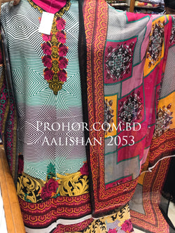 Aalishan Cotton Lawn ID02053 (Pakistani)