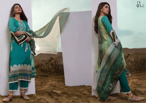 Firdous Cotton Embroidered Lawn ID02030 (Pakistani)