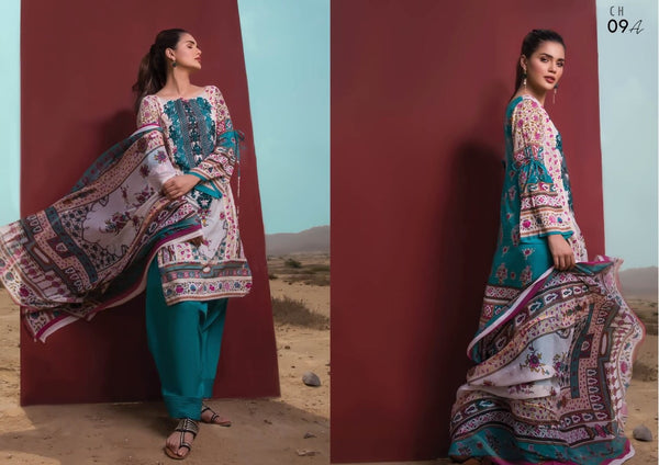 Firdous Cotton Embroidered Lawn ID02044 (Pakistani)