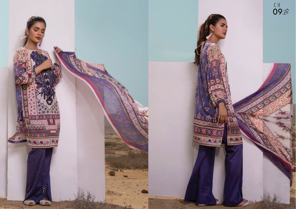 Firdous Cotton Embroidered Lawn ID02045 (Pakistani)