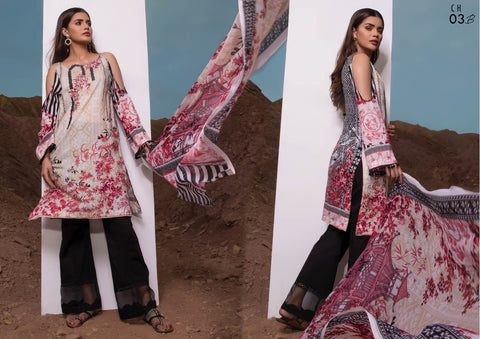 Firdous Cotton Embroidered Lawn ID02033 (Pakistani)