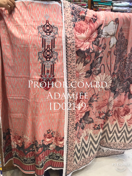 Cotton Embroidered Lawn ID02149 (Pakistani)