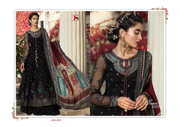 Maria B Georgette Embroidered ID02122 (Indian)