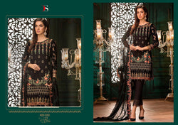 Gulbano Georgette Embroidered ID02116 (Indian)