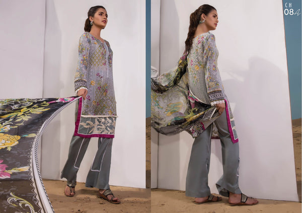Firdous Cotton Embroidered Lawn ID02042 (Pakistani)