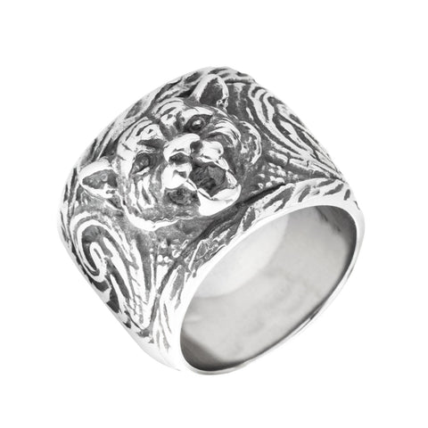 Wide Band Tiger Ring