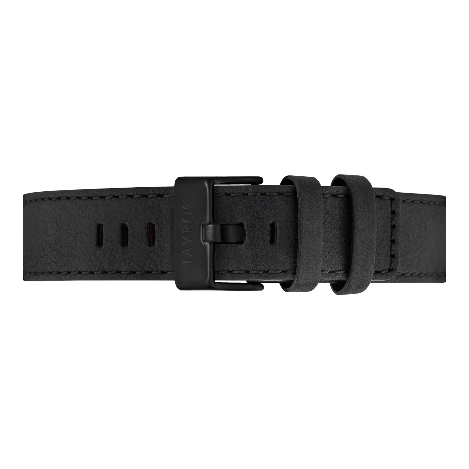 Black Leather Strap/Black Buckle