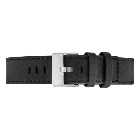 Black Leather Strap/Silver Buckle