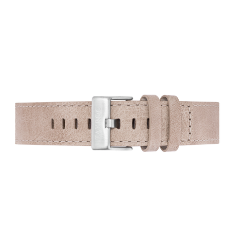 Sand Leather Strap/Silver Buckle