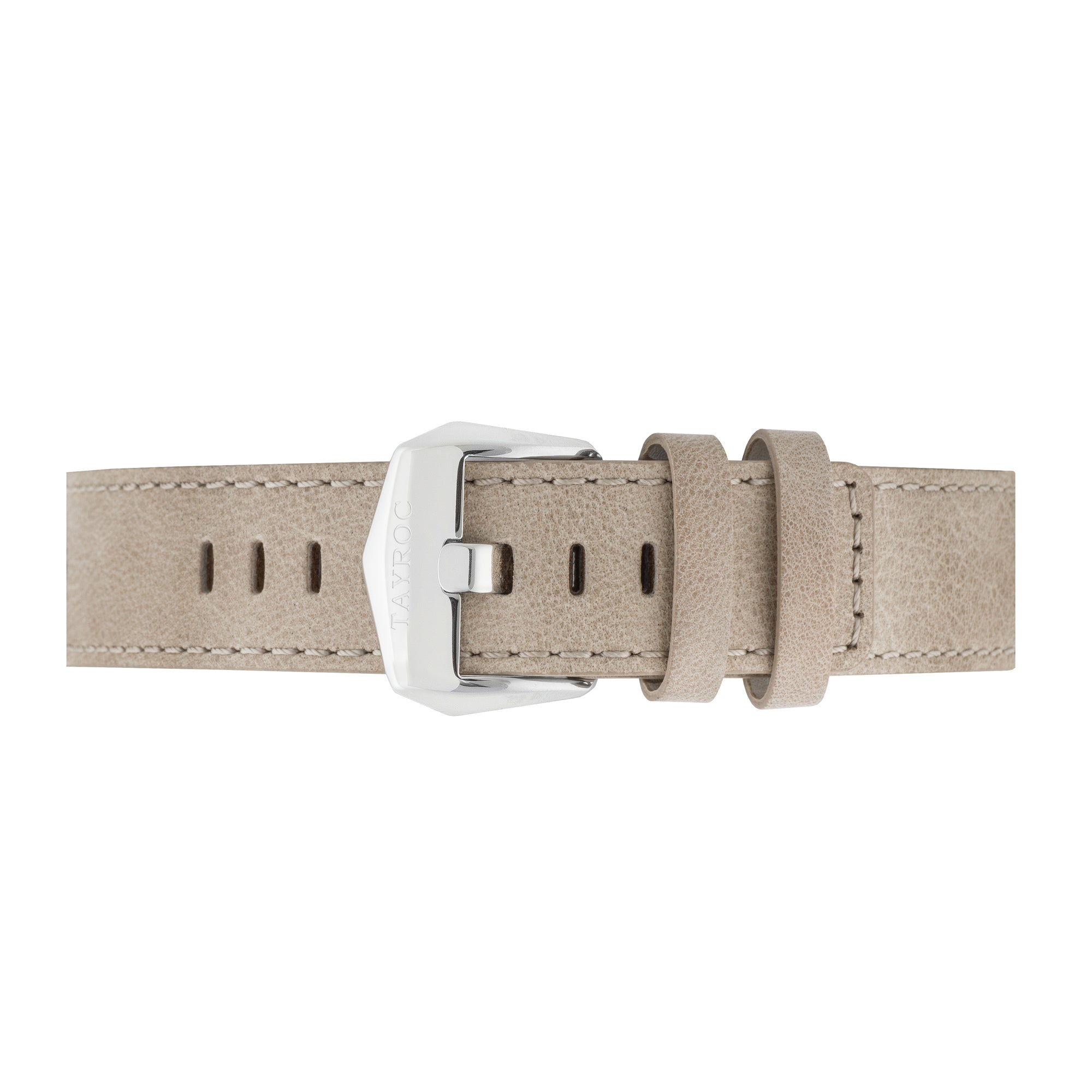 Tan Leather Strap Silver Buckle 22mm