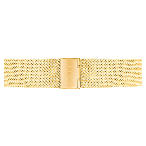 Gold Meshband Strap 22mm