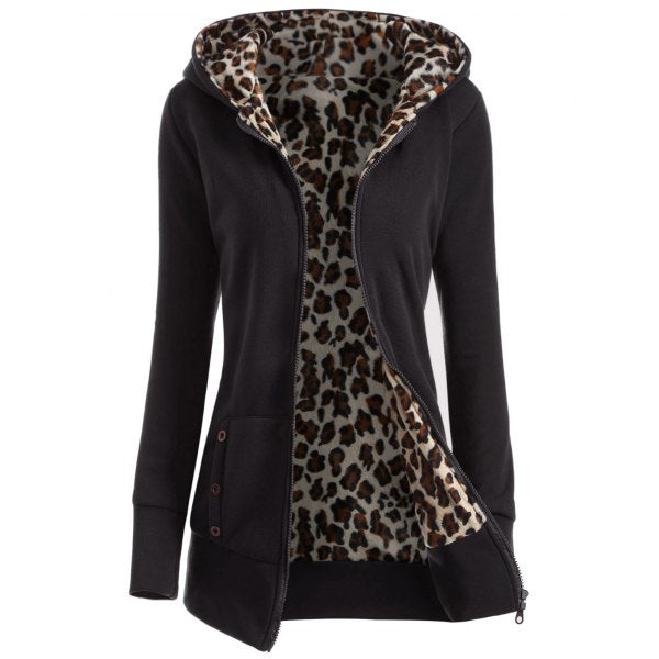 W Jacket - The Hop - Leopard Lined Hoodie
