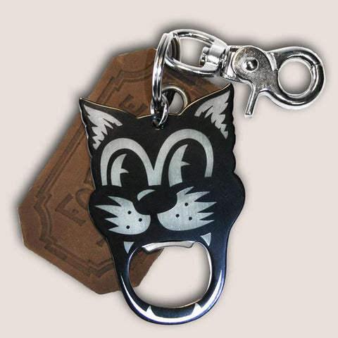 Trixie & Milo Cat Bottle Opener Key Ring