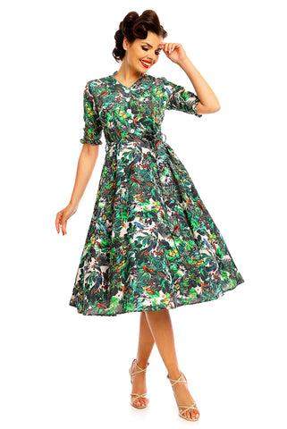 W Dresses - The Hop - Tropical Shirt Dress