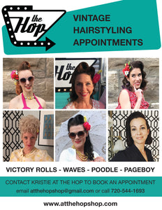 Victory Rolls Vintage Hairstyle