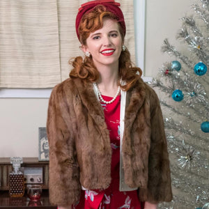 Vintage 1940's Mink Short Fur Jacket