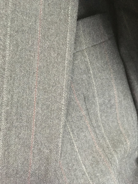 Vintage Men's Grey Pinstripe Suit