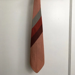 Vintage Silk Tie - Pink/Red/Black