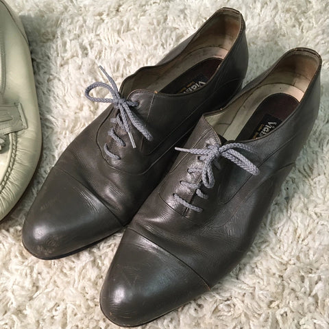 Vintage Men's Shoes - Grey