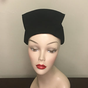 Vintage Women's Hat - Black Felt