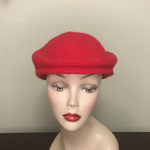 Vintage Women's Hat - Red Cabbie