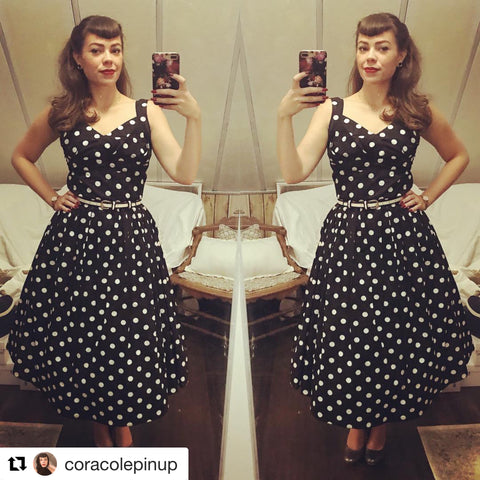 Polka Dot Midi Swing Dress