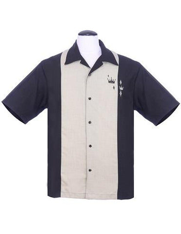 Steady Bowling Shirt - Contrast Crown Black