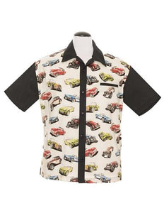 Steady Bowling Shirt - Classic Cars