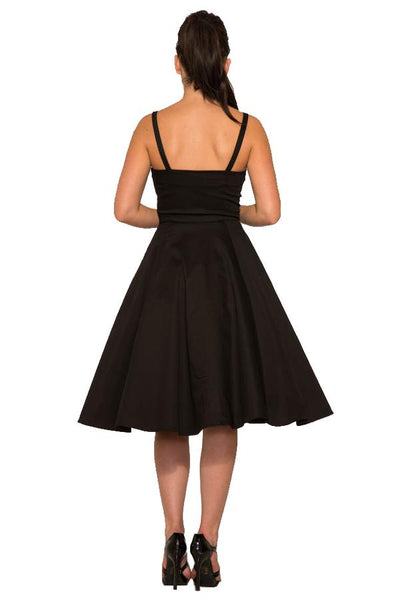 Hearts & Roses Black Swing Dress