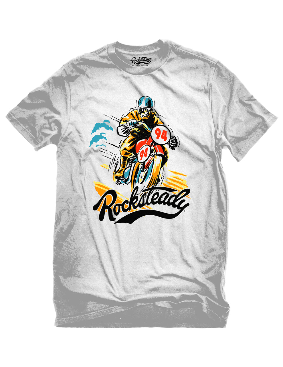 Steady Solo Racer White T-Shirt