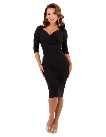 Black Diva Pencil Dress