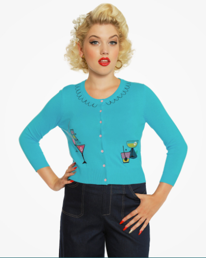 W Top - Lindy Bop - Cocktail Cardigan
