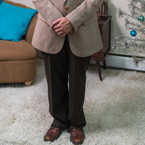 Vintage Men's Brown Trousers