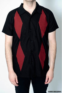 Bowling Shirt - Airborne Diamond
