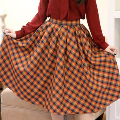 Retrolicious Madison Plaid Skirt