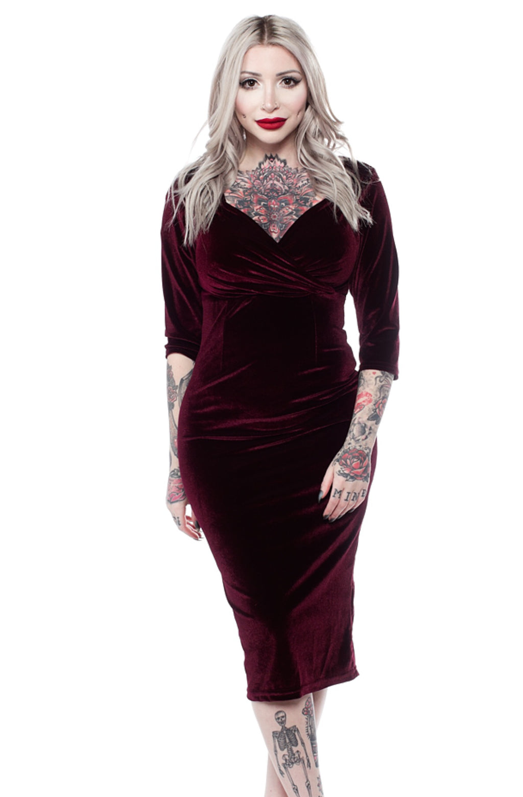 SALE Steady Red Velvet Diva Dress