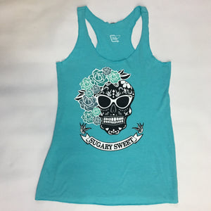Sugary Sweet Tank Top in Tahiti Blue