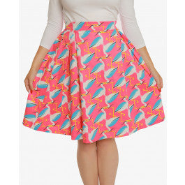 SALE Lindy Bop Pink Heron Skirt