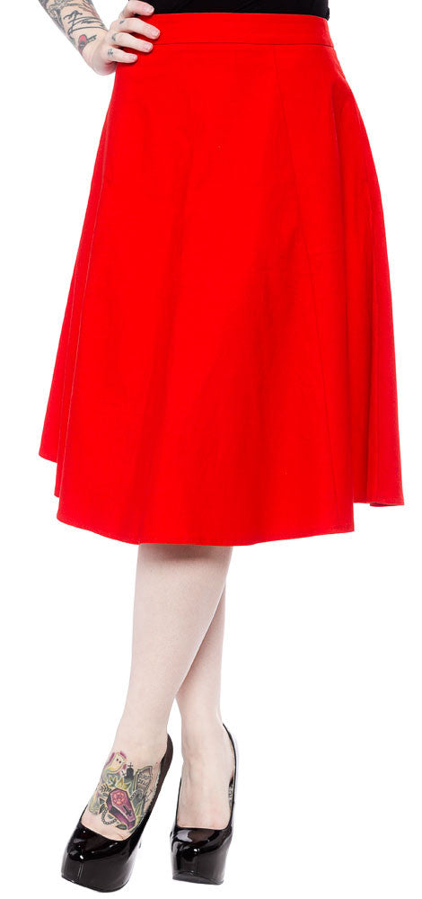 SALE Sourpuss Red Swing Skirt