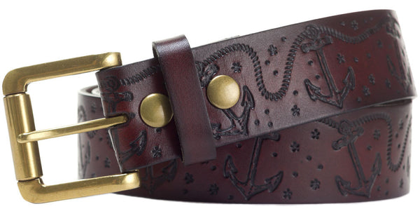 Embossed Leather Belts