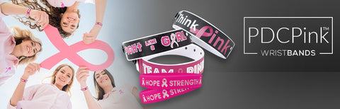 PDCPink Breast Cancer Awareness Wristbands & Lanyards