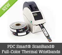PDC Smart® ScanBand® Full-Color Thermal Wristbands