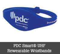 PDC Smart® UHF Rewearable Wristbands