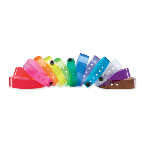 "ClearImage® Vinyl Wristbands 1/2"" Snap Closure 130P (500/box) - Wristbands.com"