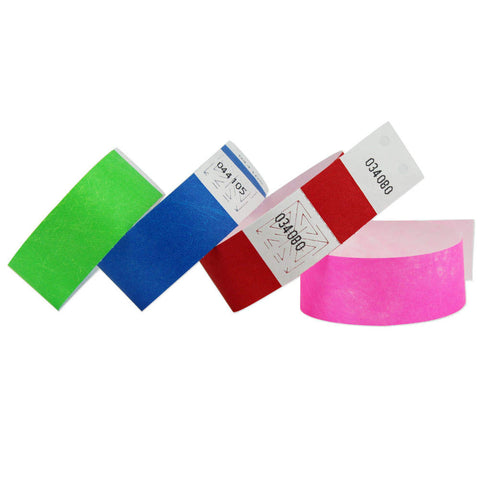 "SecurBand Plus®  Tyvek Wristbands 1"" Dot Matrix Printable 2066 (1000/Box) - Wristbands.com"