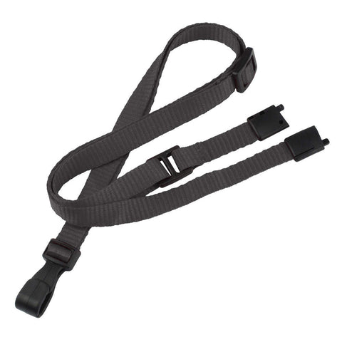 "Breakaway Adjustable Flat Braided 3/8"" Lanyard 2137 - Plastic Hook - 100/Pack - Wristbands.com, The No.1 Wristband Store in the World"