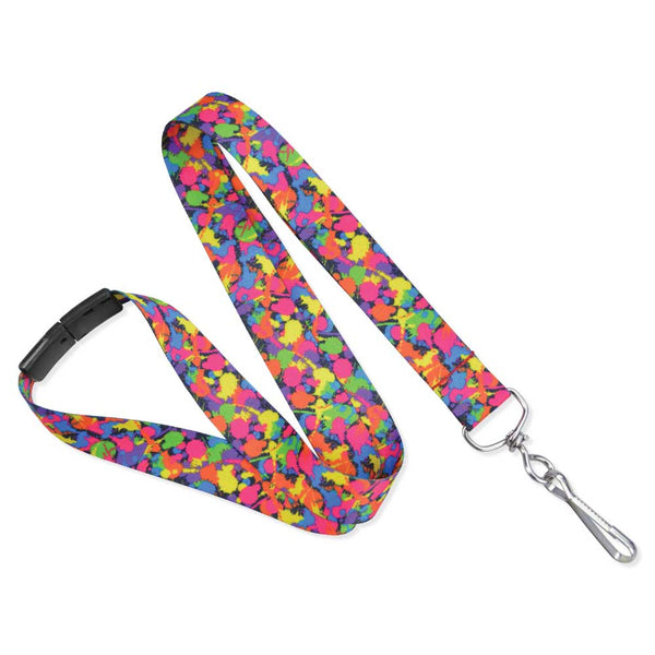 "Paint Splatter Lanyard 3/4"" (100/Pack) - Wristbands.com"